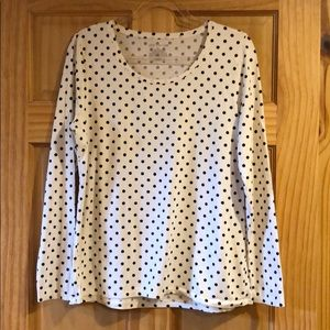 Ann Taylor long sleeve tee-Cream/black XL like new